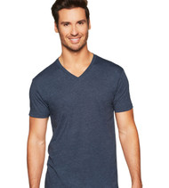 6240 NEXT LEVEL MEN'S PREMIUM CVC V-NECK TEE  (Midnight Navy)