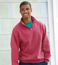995M JERZEES NUBLEND ADULT QUARTER-ZIP CADET COLLAR SWEATSHIRT