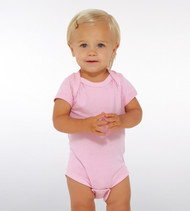 4424 RABBIT SKINS INFANT FINE JERSEY LAP SHOULDER BODYSUIT