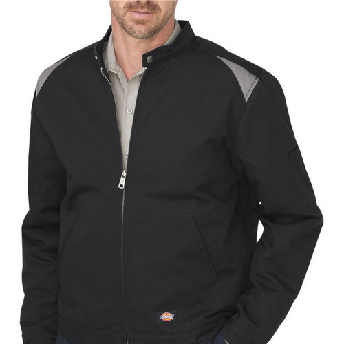 LJ605 Dickies Dow Auto Jacket - Twill Shop Series  (Black / Silver)