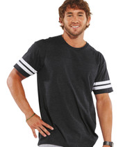 6937 LAT ADULT FINE JERSEY FOOTBALL T-SHIRT