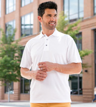 100 Paragon Men's Performance Mesh Polo  (White)