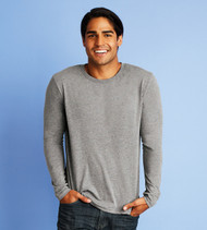 6071 NEXT LEVEL MEN'S TRI-BLEND LONG SLEEVE TEE
