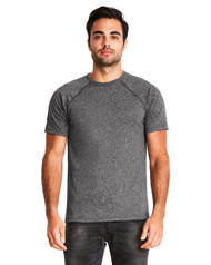 2050 Next Level Men's Mock Twist Raglan T-Shirt  (Black)
