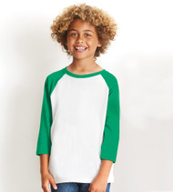 3352 Next Level Youth CVC 3/4 Sleeve Raglan T-Shirt