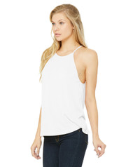 8809 Bella + Canvas Women's Flowy High Neck Tank  (White)