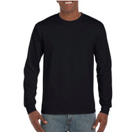 H400 Gildan Hammer Adult Long Sleeve Ring-Spun Cotton Tee  (Black)