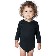 4411 Rabbit Skins Infant Long Sleeve Bodysuit  (Black)