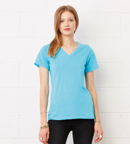 6405 BELLA + CANVAS WOMEN'S RELAXED JERSEY SHORT SLEEVE V-NECK TEE