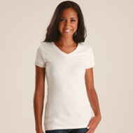 214 - Ladies' Fine Jersey V-Neck Tee