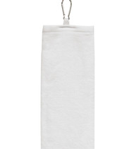 Carmel Towel Co. C1624C - Velour Tri-Fold Towel with Grommet and Carabiner