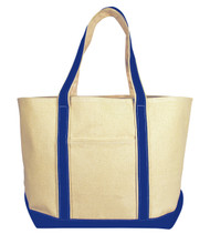 8871 LIBERTY BAGS WINDWARD BOAT TOTE BAG  (Natural/Royal)