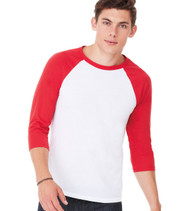 3200 Bella + Canvas Unisex Jersey 3/4 Sleeve Baseball Tee