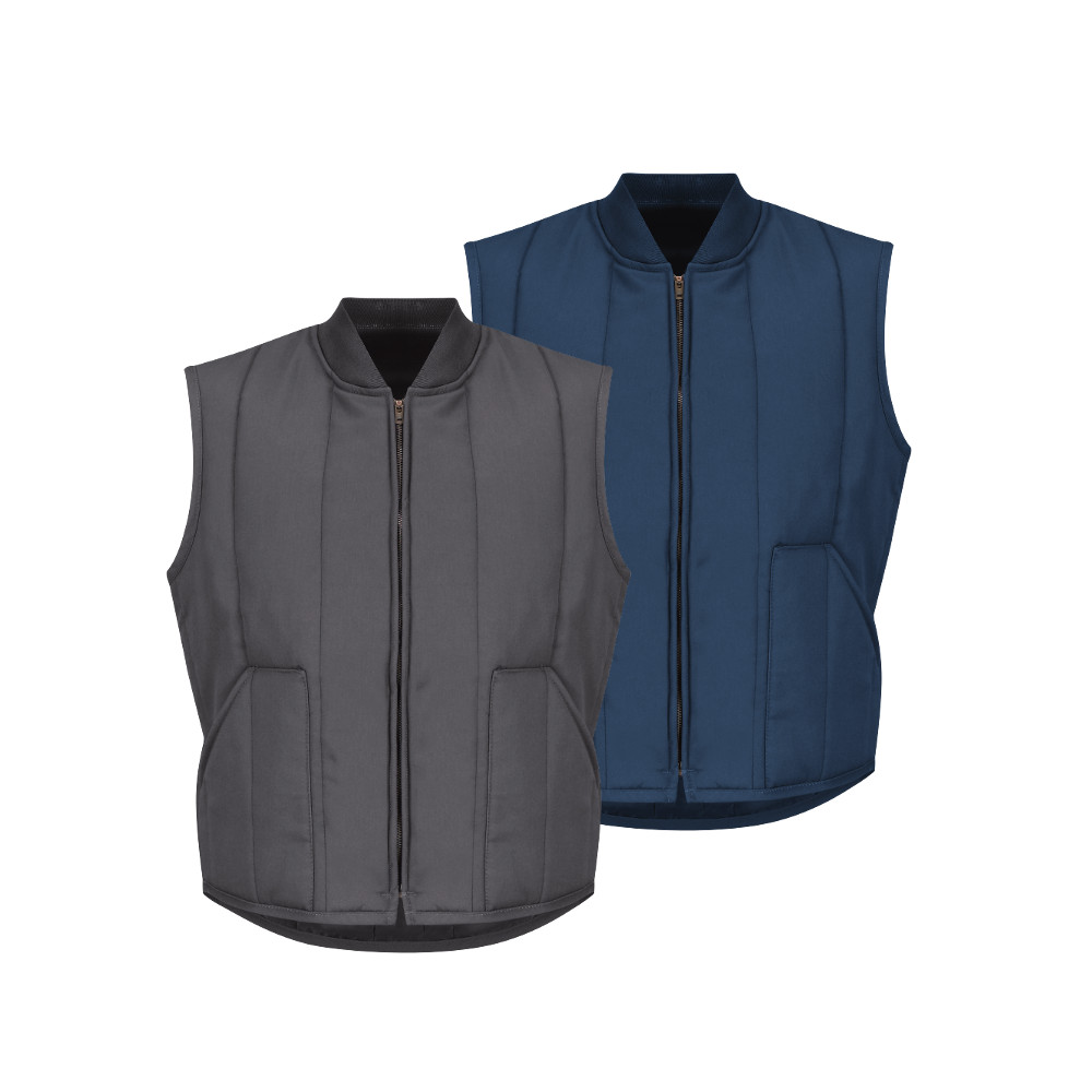 Mens Quilted Winter Vests Red Kap Vt22 99 Ship Free