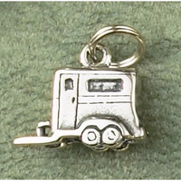Sterling Silver Horse Trailer Charm or Pendant
