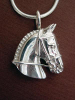 Sterling Silver Hunter Event Jumper Pendant