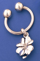 Sterling Silver Lucky Clover Key Chain
