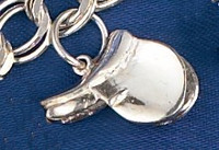 Sterling Silver Saddle Charm or Pendant