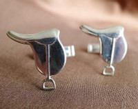 Sterling Silver Saddle Cufflinks