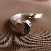Sterling Silver Traditional Horseshoe Nail Ring