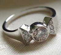 14k White or Yellow Gold Horseshoe Nail Ring