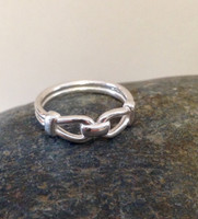 Sterling Silver Bit Band Ring