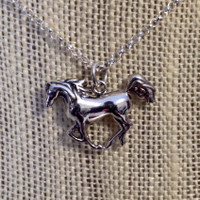 Sterling Silver Arabian Horse on Chain