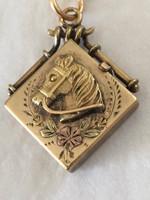Antique Horse Head Locket Necklace