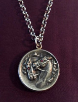 Fabulous Antique Locket Pendant with Two Horses