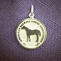 Sterling Silver American Quarter Horse Breed Charm or Pendant
