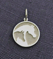 Sterling Silver Arabian Horse Breed Charm or Pendant