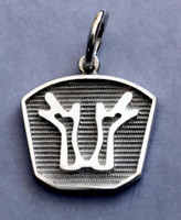 Sterling Silver Rheinlander Horse Breed Charm or Pendant