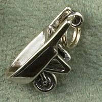 Sterling Silver Wheelbarrow Charm or Pendant