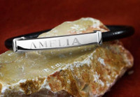 """Amelia"" Leather and Sterling Silver Bracelet"