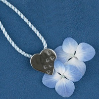 "Sterling silver ""Paw prints on Your Heart"" Pin or Pendant"