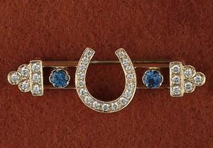14k Gold Replica of a Victorian PIN BROOCH
