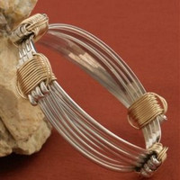 14k Gold and Sterling Silver BRUMBY BRACELET