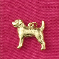 14k Gold Border Terrier Dog Charm or Pendant