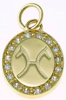 14k Gold Breed Charm or Pendant with Diamonds