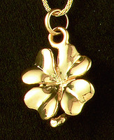 14k Gold 4-Leaf Clover Charm or Pendant