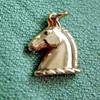 14k Gold Roman Horse Head Charm or Pendant