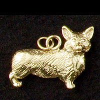 14k Gold Corgi Dog Charm or Pendant