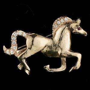 14k Gold Happy Stallion Pin