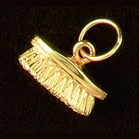 14k Gold Horse Brush Charm Charm or Pendant