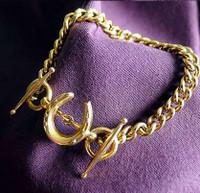 14k Gold Horseshoe and Bit Bracelet