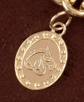 14K Gold Irish Sport Horse Charm or Pendant Necklace