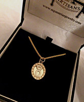 14k Yellow or White  Oldenberg Breed Charm or Pendant Necklace