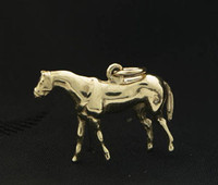 14k Gold Thoroughbred Horse Charm or Pendant