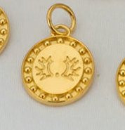 14k Yellow or White Gold Trakehner Breed Charm or Pendant