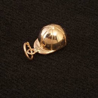 14k Small Gold Hunt Cap Charm or Pendant